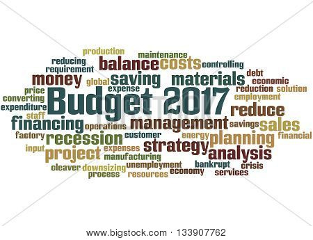 Budget 2017, Word Cloud Concept 4