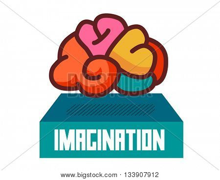 Imagination graphic. Flat vector illustration.