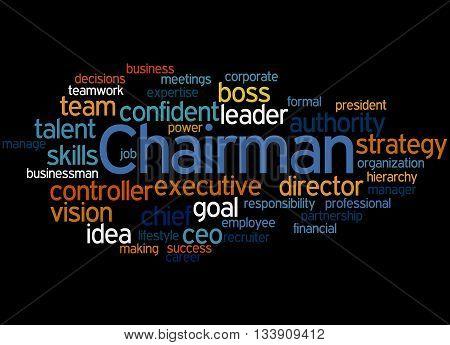 Chairman, Word Cloud Concept 6
