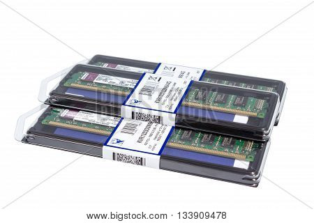 Volgograd, Russia - Circa May, 2011: Computer Random Access Memory (ram) Modules Ddr3