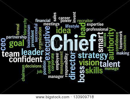 Chief, Word Cloud Concept 5