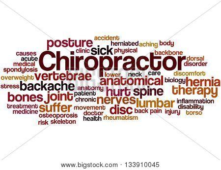 Chiropractor, Word Cloud Concept 9