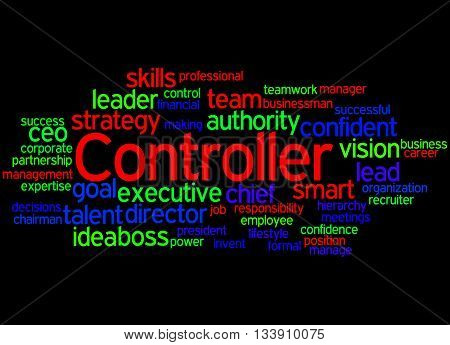 Controller, Word Cloud Concept