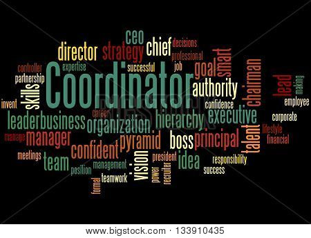 Coordinator, Word Cloud Concept 4