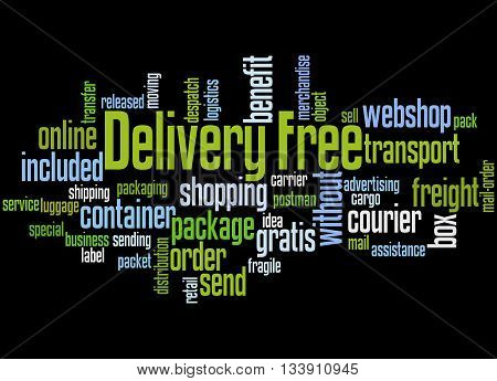 Delivery Free, Word Cloud Concept