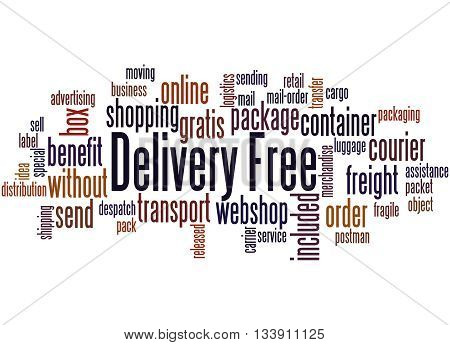 Delivery Free, Word Cloud Concept 6