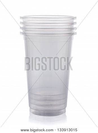 plastic cup isolated on a white background