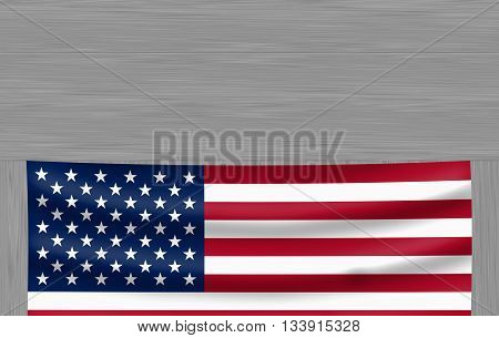a view of american flag on a wood panel