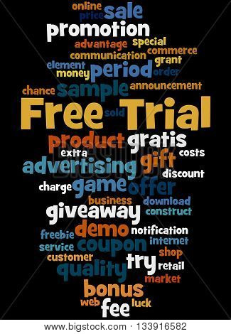 Free Trial, Word Cloud Concept 2