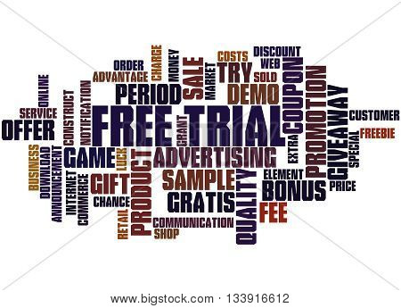 Free Trial, Word Cloud Concept 3