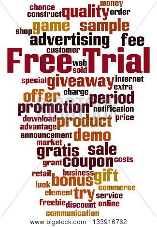 Free Trial, Word Cloud Concept 6