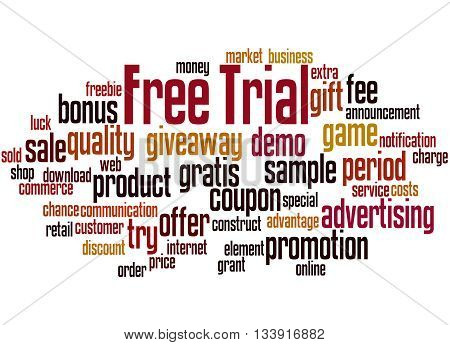 Free Trial, Word Cloud Concept 8