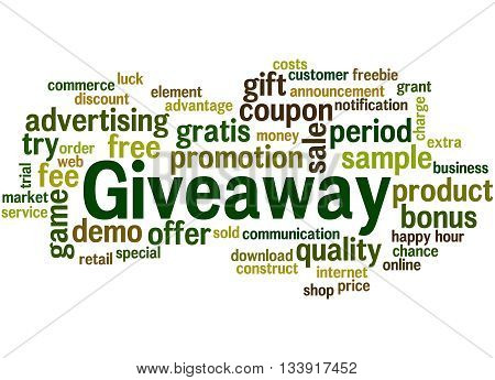 Giveaway, Word Cloud Concept 2