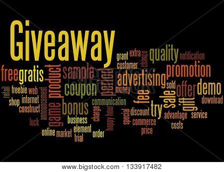 Giveaway, Word Cloud Concept 3