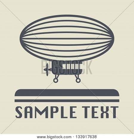 Abstract Airship icon or sign, vector illustration