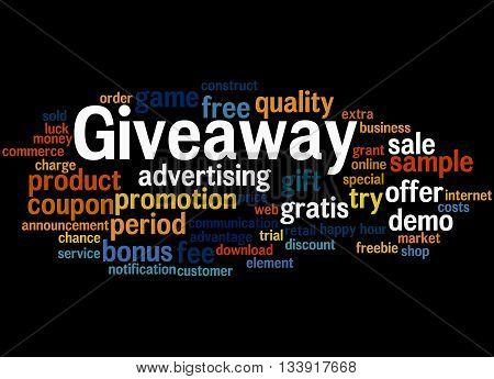 Giveaway, Word Cloud Concept 7
