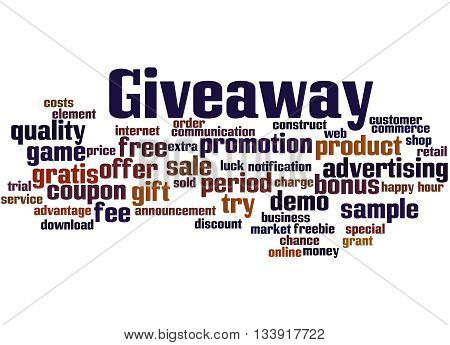 Giveaway, Word Cloud Concept 8