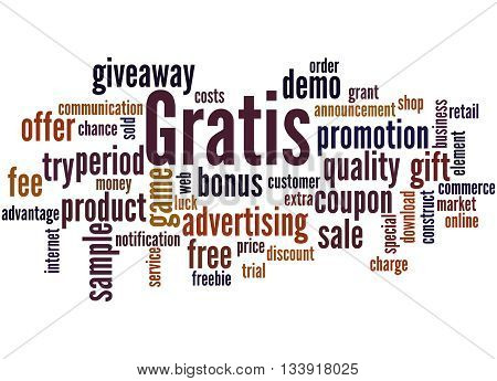 Gratis, Word Cloud Concept 7