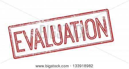 Evaluation Red Rubber Stamp On White