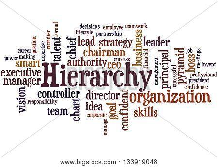 Hierarchy, Word Cloud Concept 9