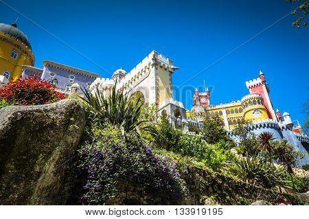 Pena National Palace in Sintra Portugal (Palacio Nacional da Pena)