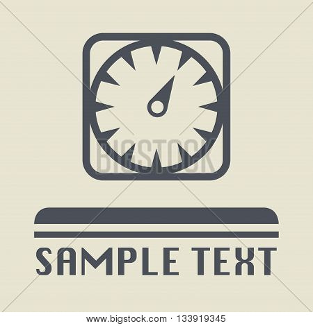 Abstract Car instruments icon or sign, vector illustration