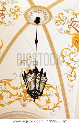 Lamp as the exterior decor of Odessa National Academic Theatre of Opera and Ballet, Odessa, Ukraine