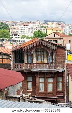 View of european part of Istanbul Turkey