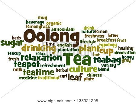 Oolong Tea, Word Cloud Concept 5