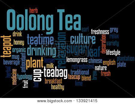 Oolong Tea, Word Cloud Concept 8