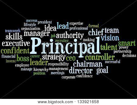Principal, Word Cloud Concept 4