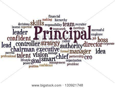 Principal, Word Cloud Concept 7