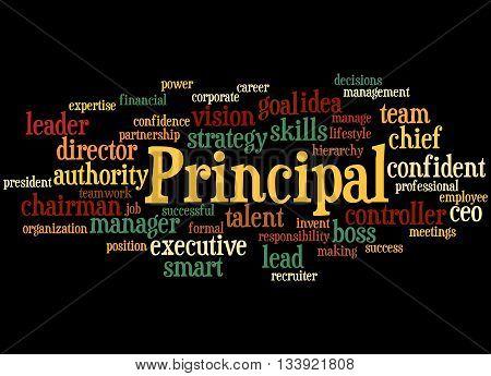 Principal, Word Cloud Concept 9