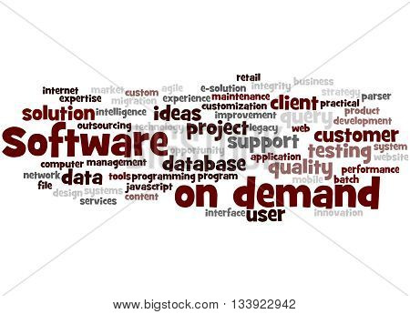 Software On Demand, Word Cloud Concept 4