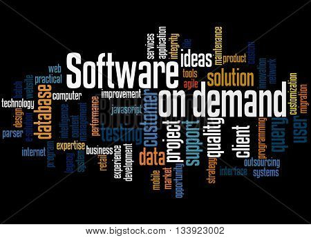Software On Demand, Word Cloud Concept 7