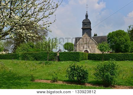 Martainville France - may 13 2016 :the Notre Dame church