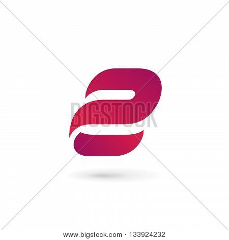 Letter E Number 2 Logo Icon Design Template Elements