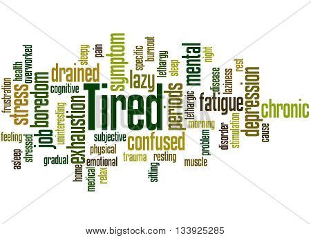 Tired, Word Cloud Concept 7