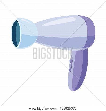 Hairdryer icon in cartoon style on a white background