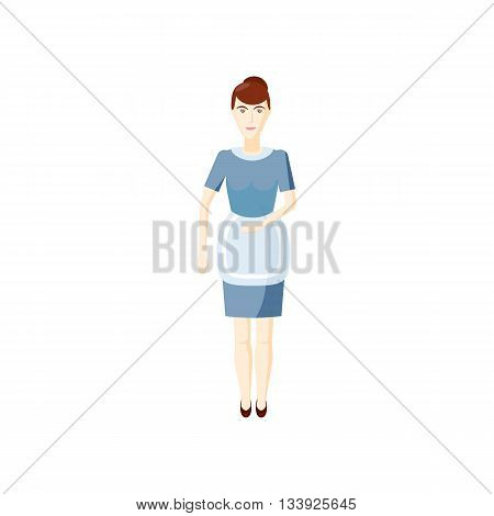 Maid icon in cartoon style on a white background