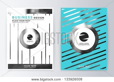 Cover design blue. Template brochure. Flyer annual report layout. Presentation template business flyer a4 blue.