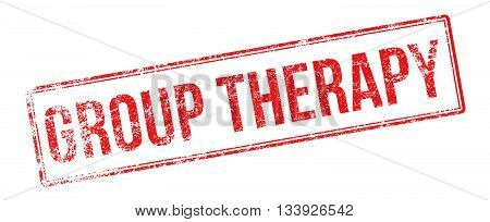 Group Therapy Red Rubber Stamp On White