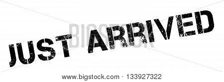 Just Arrived Black Rubber Stamp On White
