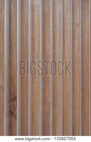 Wood Slats With Aluminum Corners abstract background image