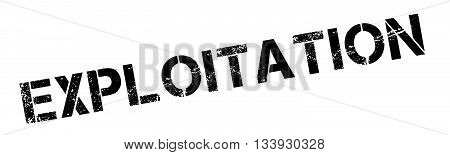 Exploitation Black Rubber Stamp On White