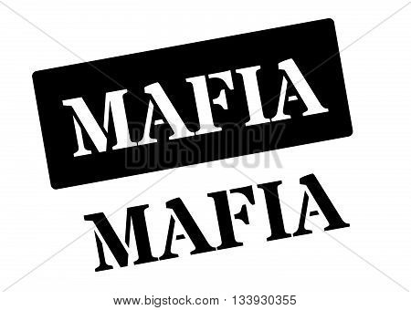 Mafia Black Rubber Stamp On White