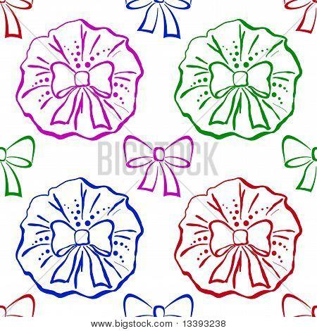 Bows, seamless pattern