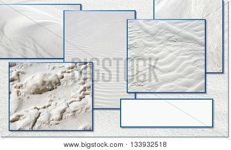 Sand textures in White Sands, New Mexico, with copy space