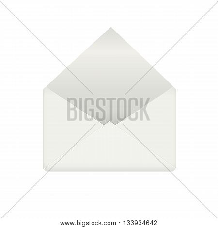 Empty envelope opened. Correspondence opened and email icon for mobile app. Vector illustration