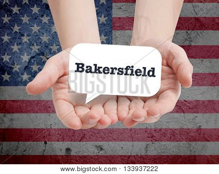 Bakersfield written in a speechbubble